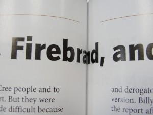 Dans certain cas, un mauvais concept peut mener à des mots incompréhensible et forcera le lecteur à briser le volume pour bien lire ...