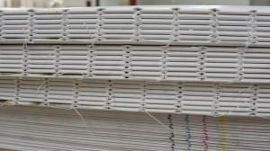 Bookblock sewn with nylon thread.